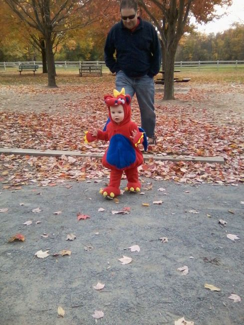 Daddy Chasing the Dragon Around the Park